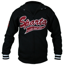Men's hoodie with textile embroidery SPARTA