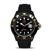 Men's black and gold watches
