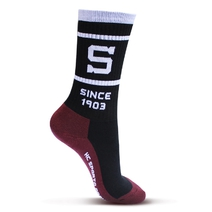 Socks with Sparta logo  - black and red