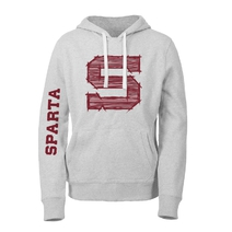 Men´s sweatshirt heather grey with Sparta logo / Hatched S