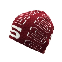 Beanie with knitted  S - kids