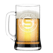 Frosted beer mug with the logo of Sparta
