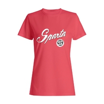 Women's T-shirt with the inscription Sparta and circular logo