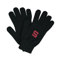 Black winter gloves with embroidery