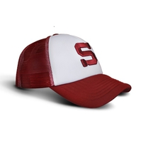 "3D S logo cap with mesh, ""trucker"" - children'"
