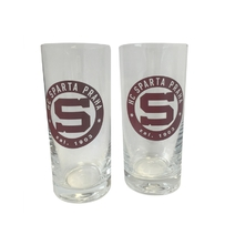 Set of glasses with a circular logo Sparta