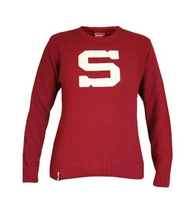 Women's retro sweater HC Sparta - burgundy