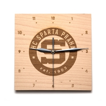 Wooden wall clock HC Sparta - square