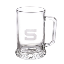 Engraved pint glass with logo S