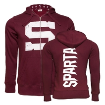 "Men's hoodie ""S"" logo of Sparta - burgundy"