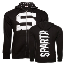 "Men's hoodie ""S"" logo of Sparta - black"