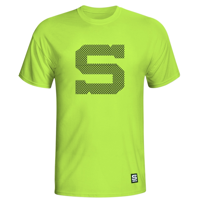 Men's T-Shirt neon with black S