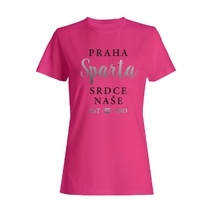 Pink ladies t-shirt with silver Sparta printing