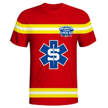 Men´s jersey style T-shirt - Sparta pays tribute medic