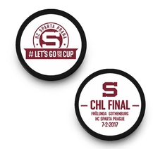 Hockey puck Lets GO CHL final 2017