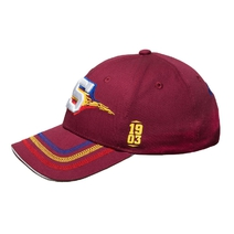 Baseballcap tribal burgundy with tricolor for adults