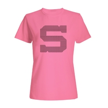 Women´s T-shirt pink with black S