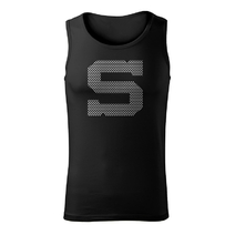 Men's sports black top with print in jerseys style S