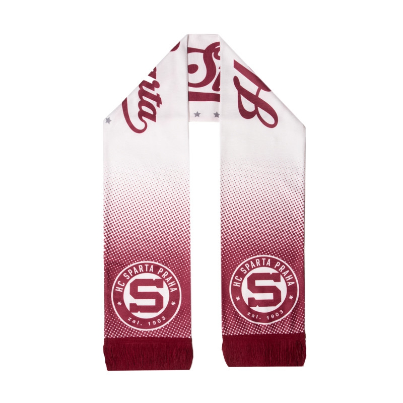 Scarf fleece with circular logo Sparta