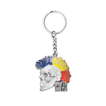 Keychain with skull Sparta Punker