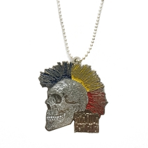 Necklace with skull Sparta Punker