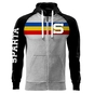 Men's hoodie with tricolor