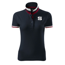 Ladies Polo Shirt with embroidery S - navy