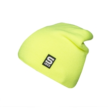 Beanie with a silicone logo Sparta yellow