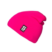 Beanie with a silicone logo Sparta_pink