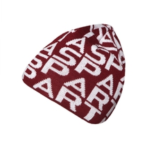 Beanie with Sparta signs for adults burgundy