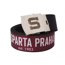Red belt with inscriptions inside HC Sparta Praha