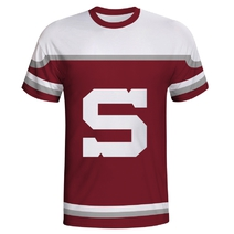Men´s T-shirt in jersey style for season 17/18 burgundy