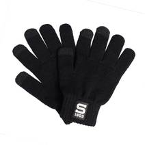 Black touch gloves with logo of Sparta