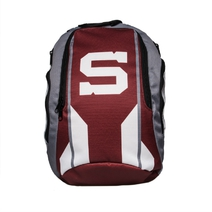 Backpack  gray-burgundy with Spartan logo