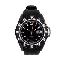 Silikon watch black-silver