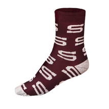 Socks with logos burgundy
