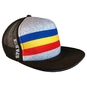Snapback with tricolor