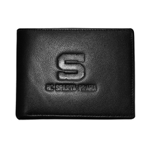 Leather wallet with embossed logo of HC Sparta Praha