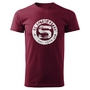 Men´s T-Shirt Logo Patina burgundy