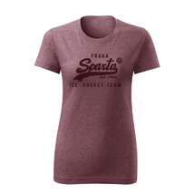 Women´s T-Shirt inscription Ice Hockey Team burgundy