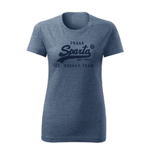 Women´s T-Shirt inscription Ice Hockey Team navy
