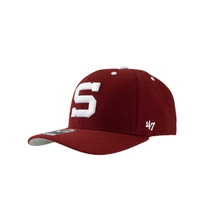 Cap '47 red with stitched logo  S