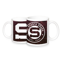 Mug red with names of legends and logo HCS