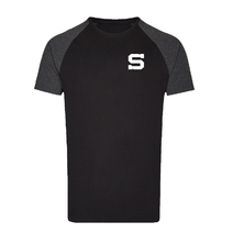 Men's t-shirt melange stitched S black