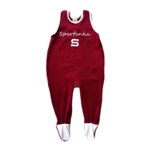 Baby jumpsuit with imprimed text Sparťanka