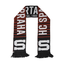 Scarf HD blackburgundy with logo and stripes HCS