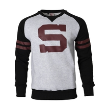 Men's hoodie with big burgundy S
