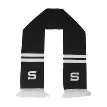 Scarf black icon with stitched logo and stripes HCS