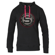 Women's hoodie circle logo with 3D outline Sparta