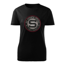 Women's t-shirt circle logo with 3D outline Sparta